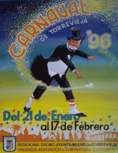 cartel carnaval de torrevieja 1996